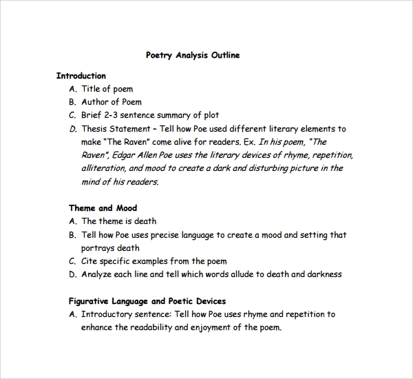 poetry analysis essay outline how write essay about poetry analysis outline
