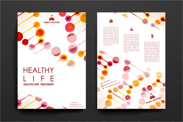editable healthcare brochure
