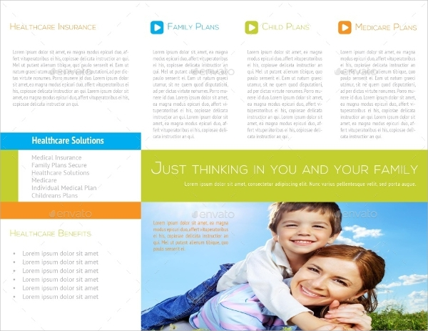 healthcare trifold brochure