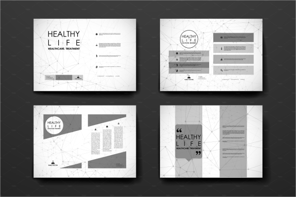 healthcare brochure design template