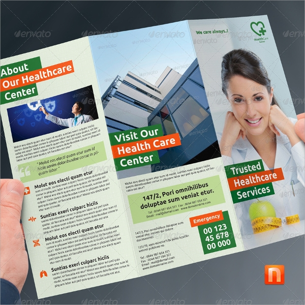 healthcare center brochure