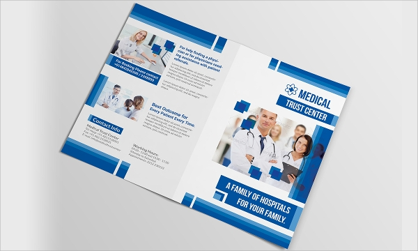 healthcare bi fold brochure template