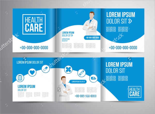 vector healthcare brochure