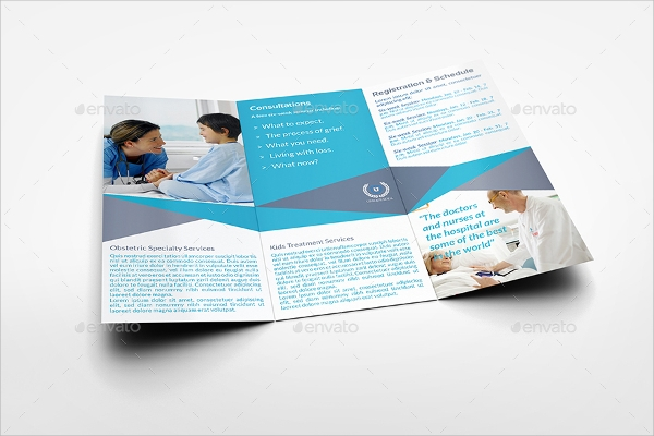 healthcare tri fold brochure template