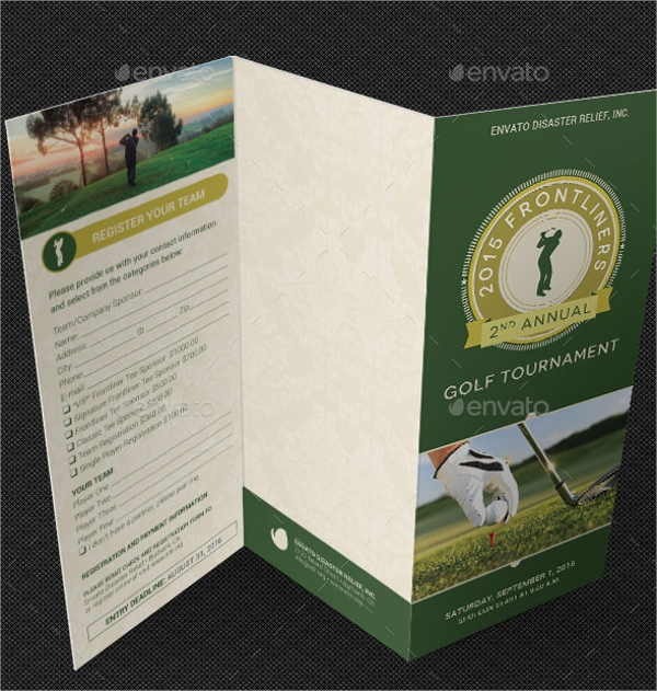 21  golf tournament brochures