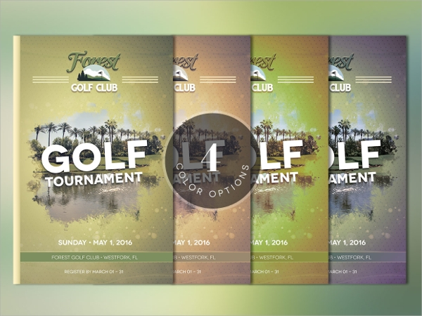 psd format golf brochure template