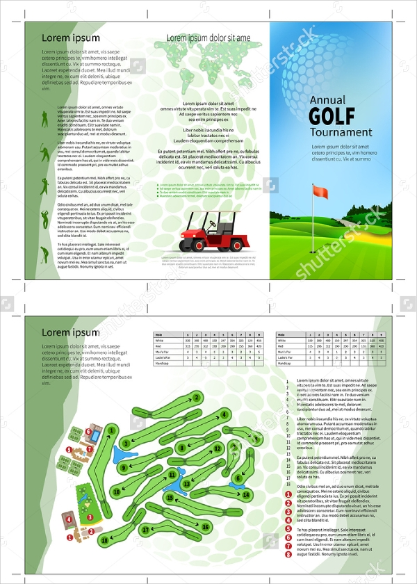 golf tournament brochure design