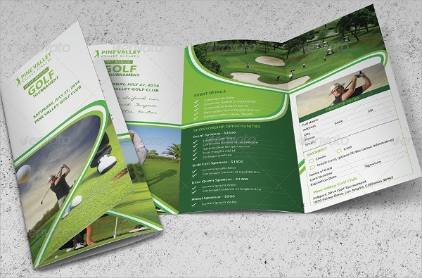 useful golf tournament brochure template