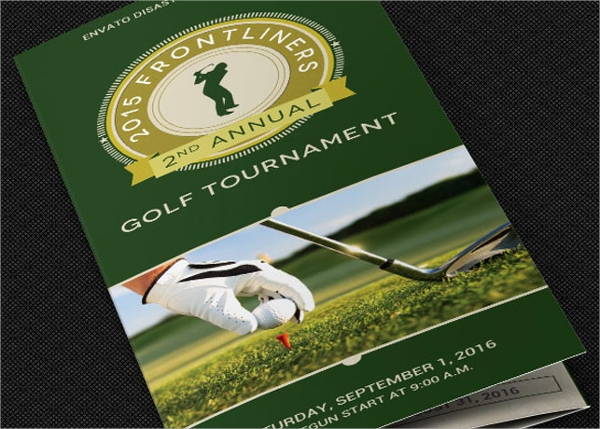 photoshop psd format golf tournament brochure