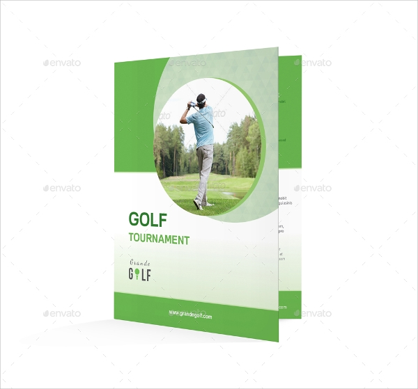 bi fold golf tournament brochure template