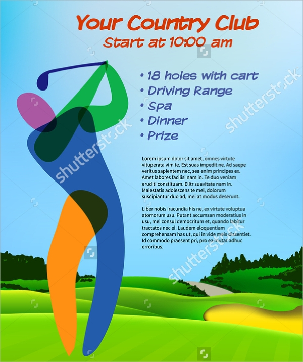 golf ticket brochure template