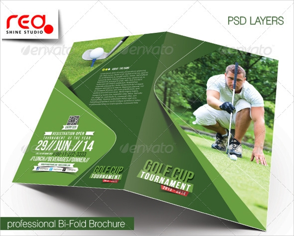 golf tournament brochure psd