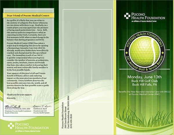 simple golf tournament brochure template