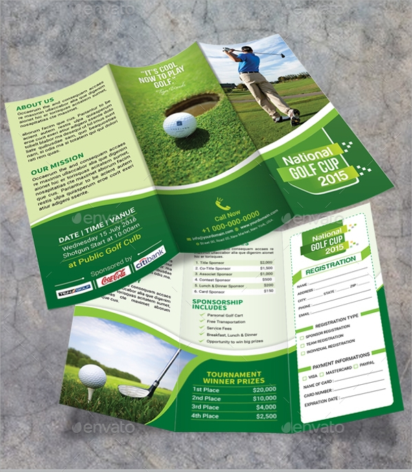 premium golf tournament brochure