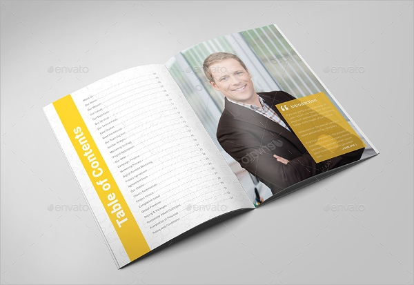 a4 content marketing brochure