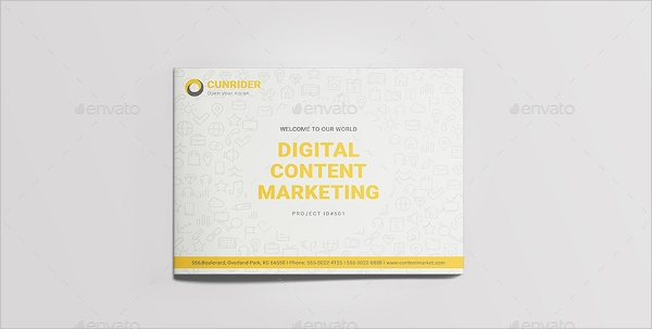 landscape content marketing brochure
