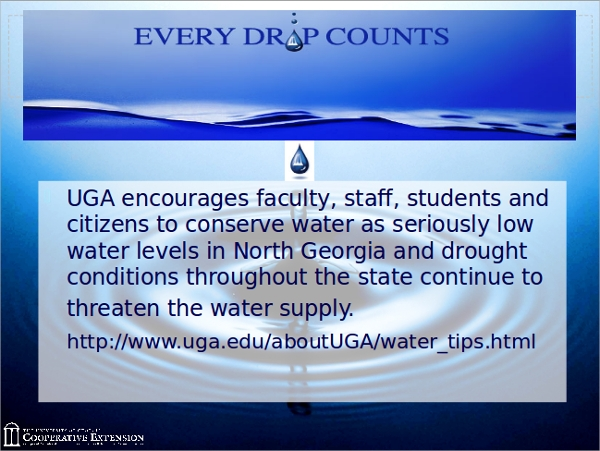 water conversation powerpoint template