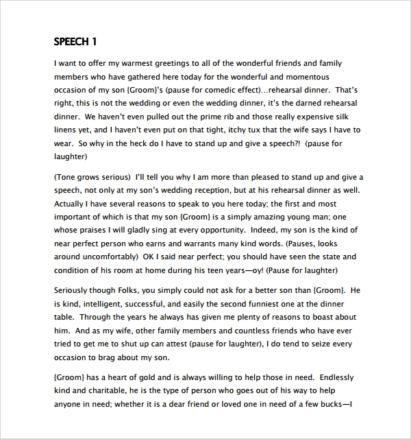 Sample Wedding Speech Example - 7+ Free Documents Download In Pdf