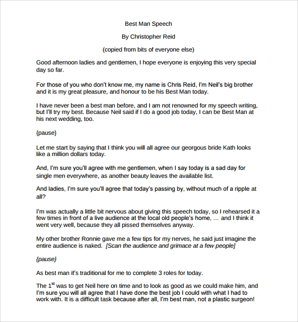 8 wedding speech examples pdf sample templates for Father of the bride speech templates