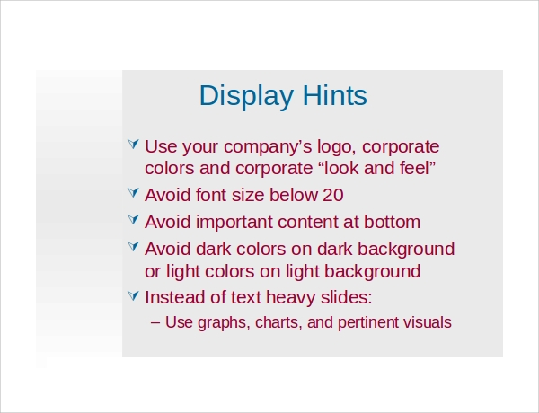 sample corporate powerpoint template