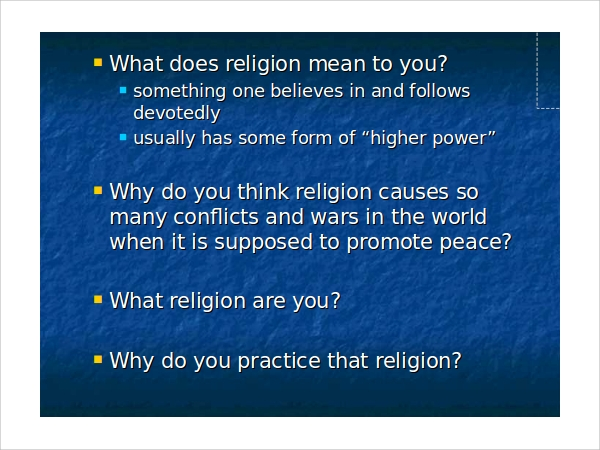 major religions of the world ppt