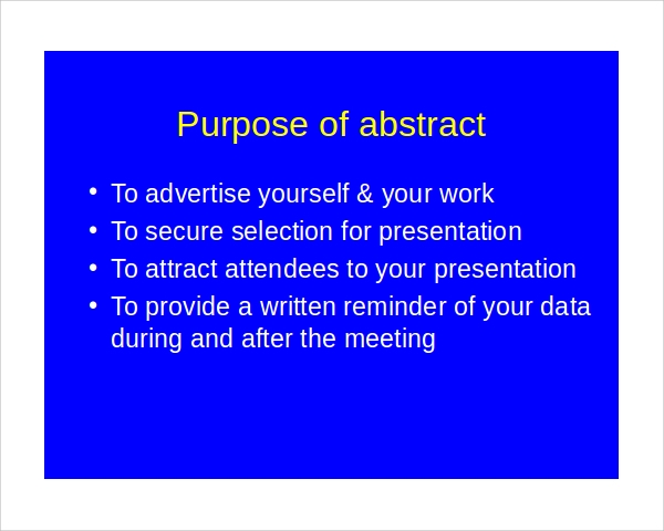 abstract presentation ppt