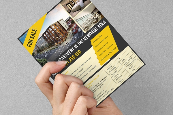 apartment sell adverting flyer