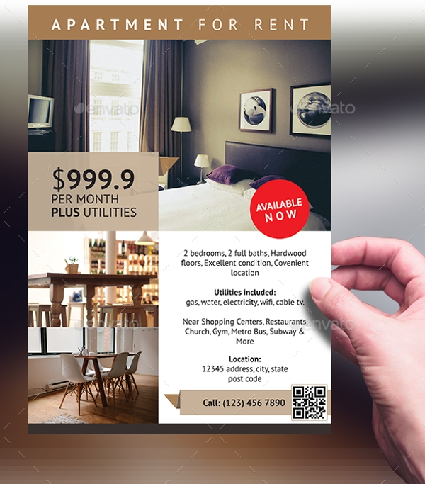 Apartmet For Rent: 17+ Apartment Flyer Templates
