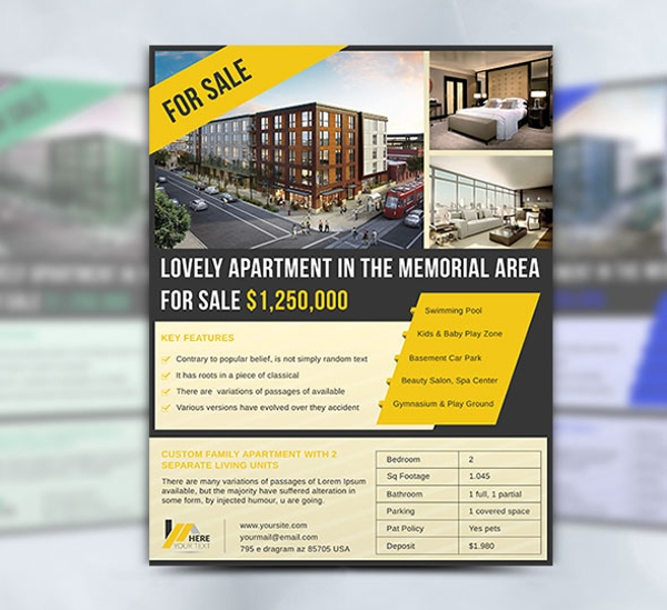 amazing apartment sell flyer template