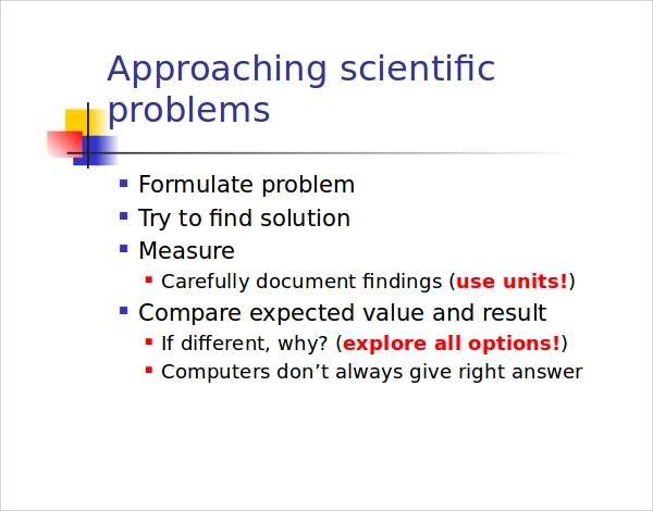 example of science powerpoint