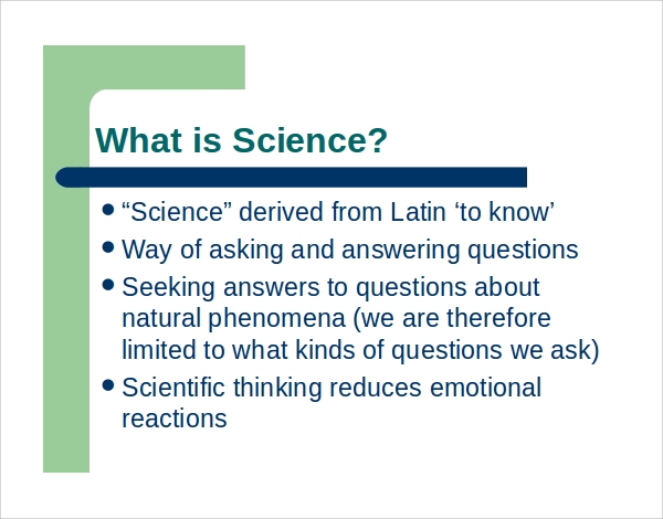 sample science powerpoint template