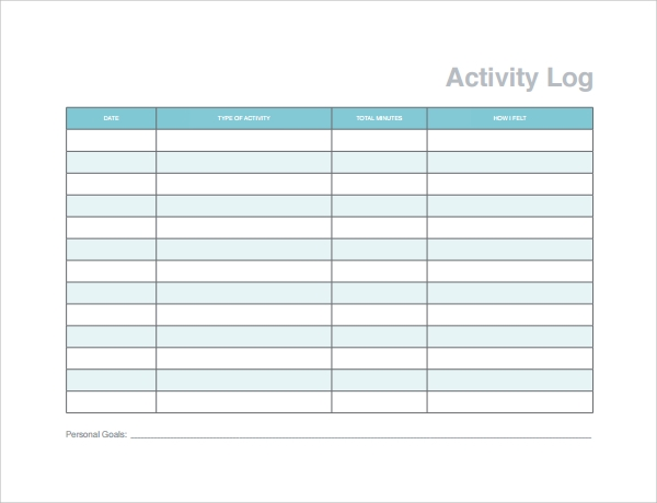 sample action log template%ef%bb%bf