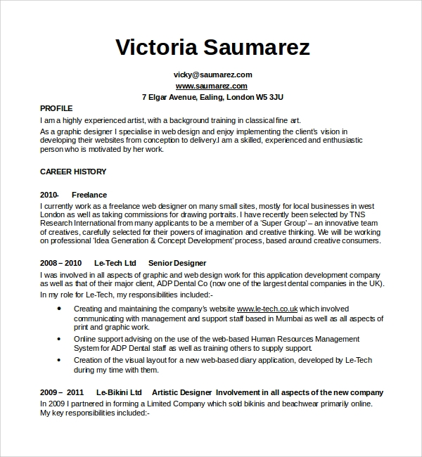 printable design cv template
