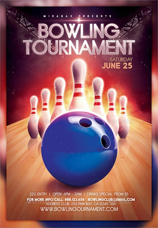 Awesome Bowling Event Flyer Template Inside Bowling Flyer Template Free