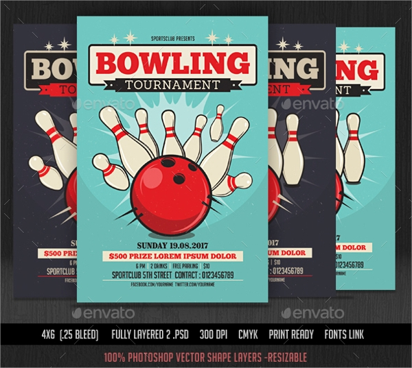 Bowling Flyer Template   Download In Vector Eps Psd