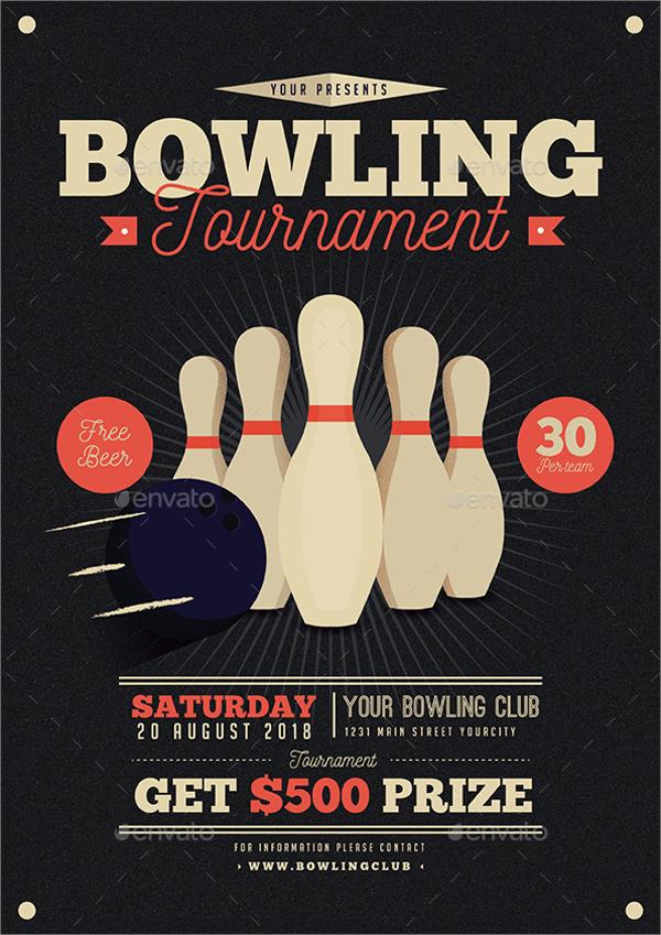 vintage bowling flyer