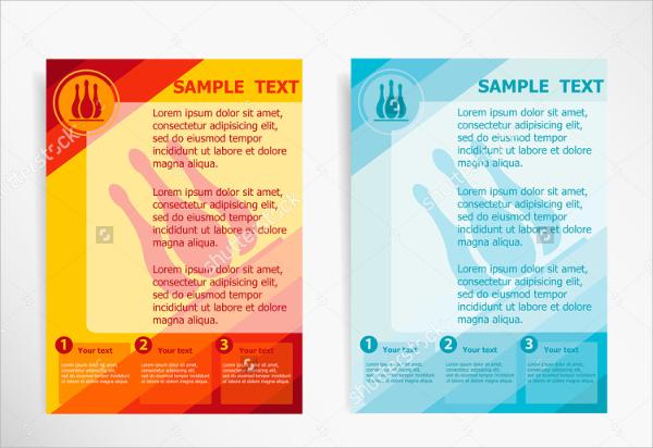 modern bowling flyer template