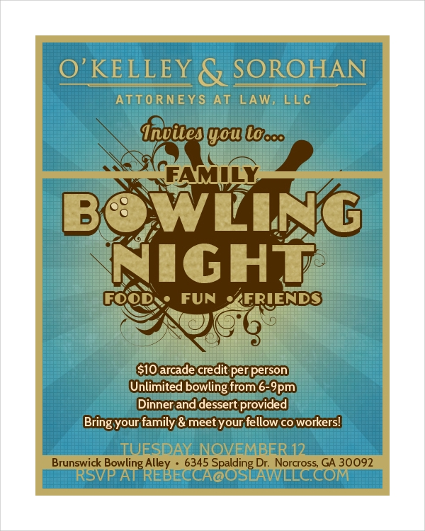 bowling flyer