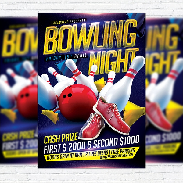 Bowling Flyer Template 19 Download In Vector EPS PSD – Bowling Flyer Template
