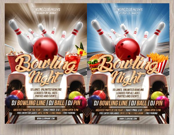 wonderful bowling flyer