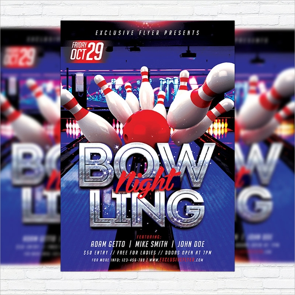 wondrous bowling flyer template