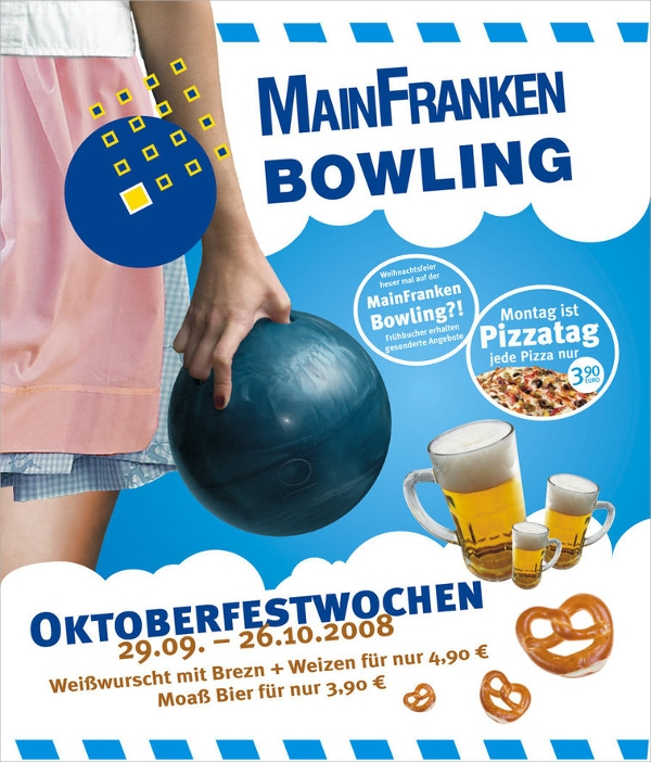 simple bowling flyer template