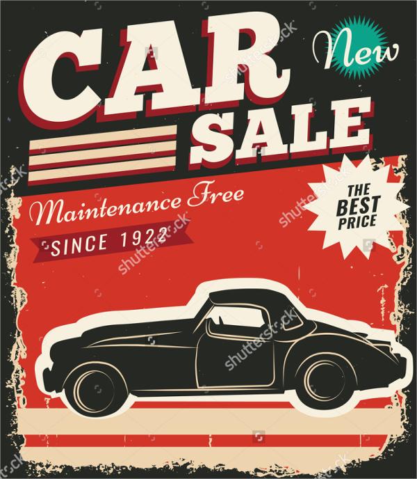 vinatage car for sale flyer