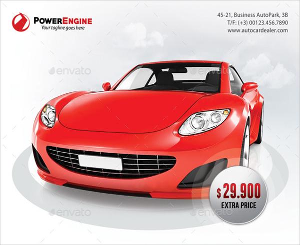 automotive car for sale flyer
