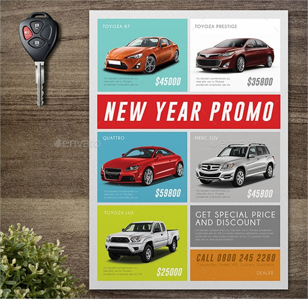 psd format car for sale template