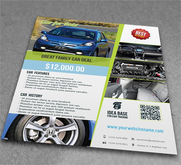Simple Car For Sale Flyer Template  Car Flyer Template