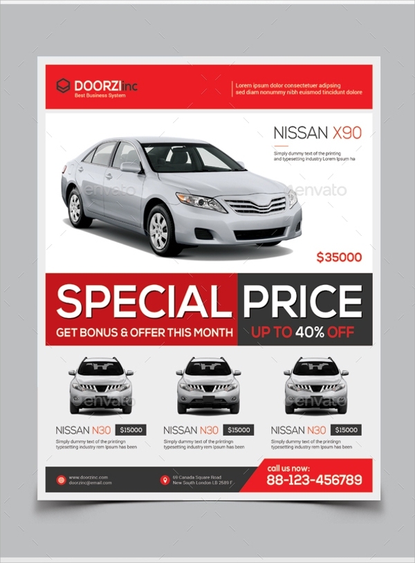 Car For Sale Flyer Template   Download In Vector Eps Psd