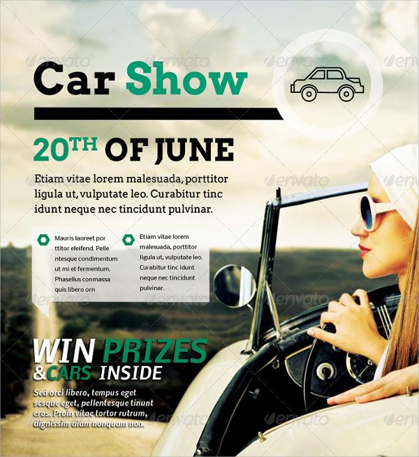 car show sale flyer template