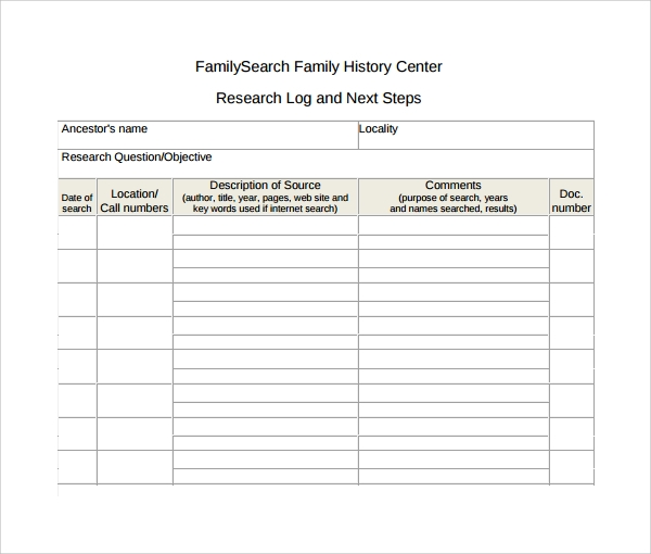 family history research log template%ef%bb%bf