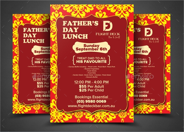 Lunch Flyer Template 13 Download In Vector EPS PSD – Lunch Flyer Template